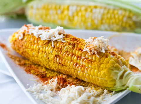 elotes on the cob