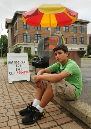 13 yr old's Hot Dog Cart shut down