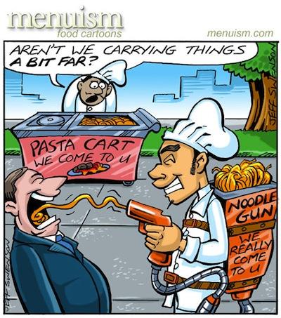 noodle-cart cartoon