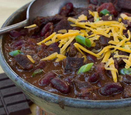 bittersweet chocolate chili