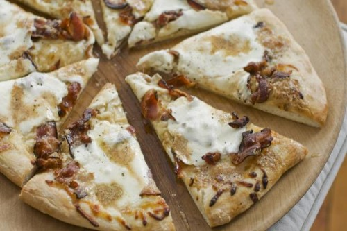maple bacon butter pizza