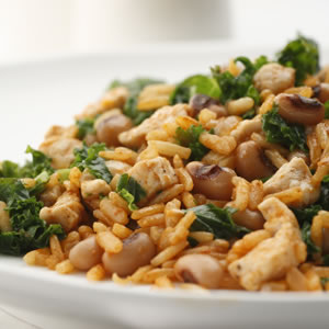 black eyed peas with pork and greens