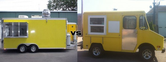 Food trailer vs food truck