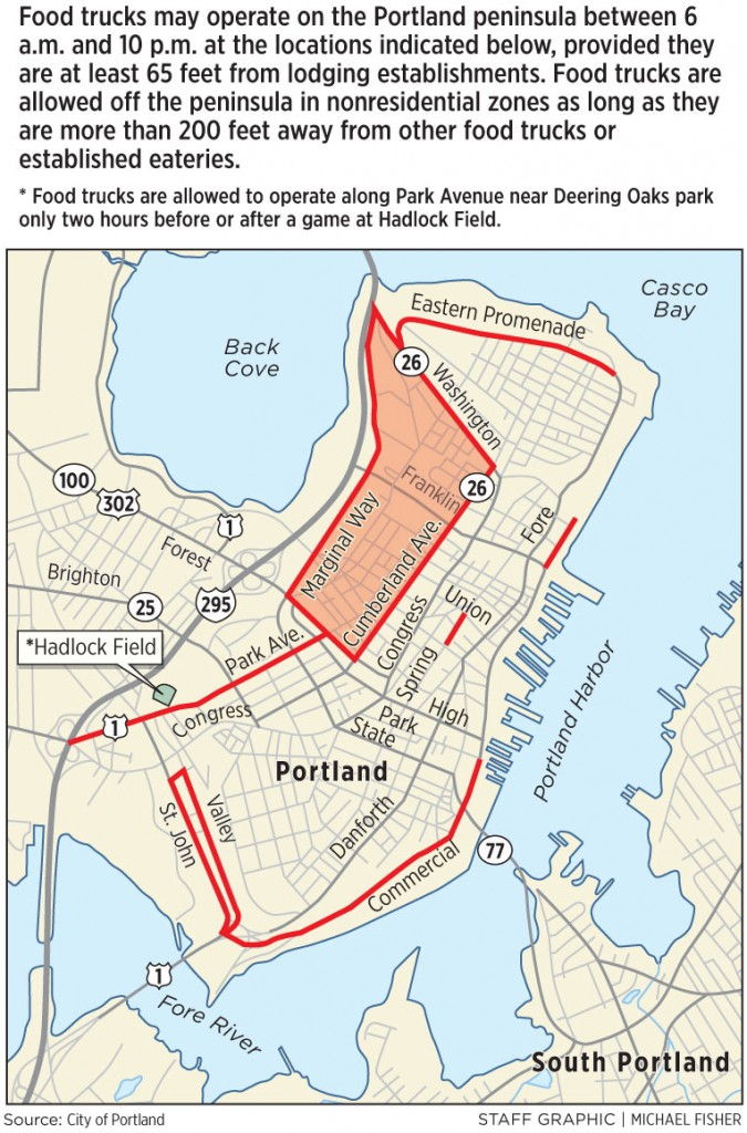 Portland Food Truck Map