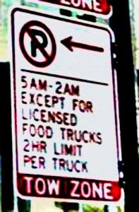 chicago-food-truck parking sign large