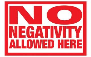get rid of negativity