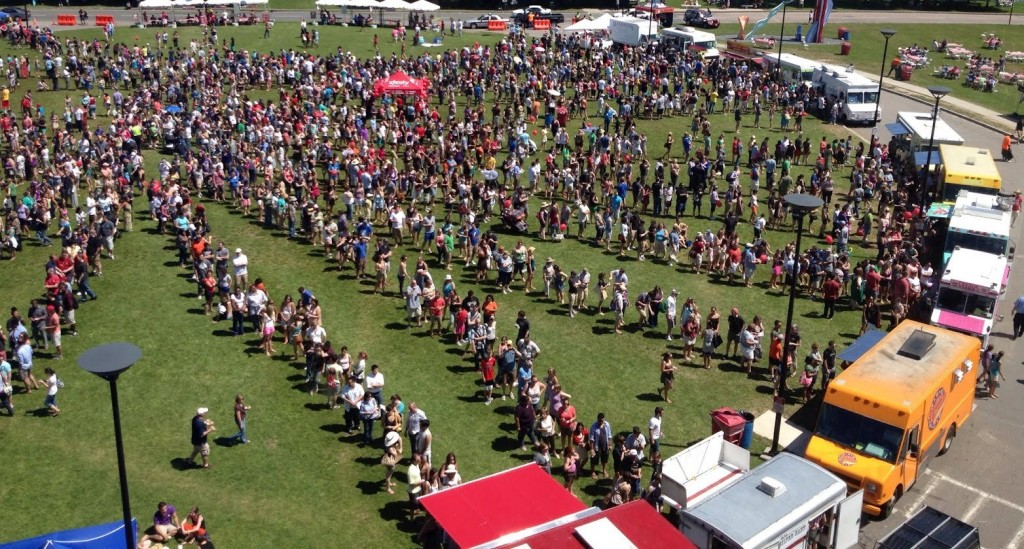 Food Truck Event Aerial-Pic