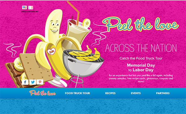 Peel the Love Dole Food Truck