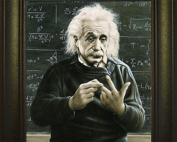 einstein counting on fingers