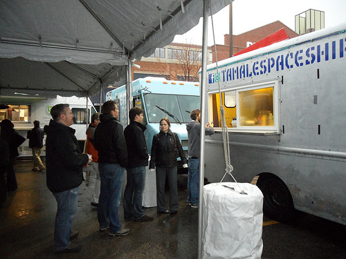 rain food truck event