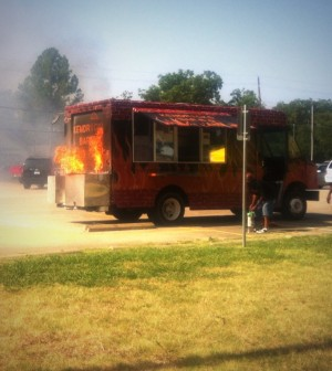 Denton Food Truck Fire Kendrick's BBQ and More