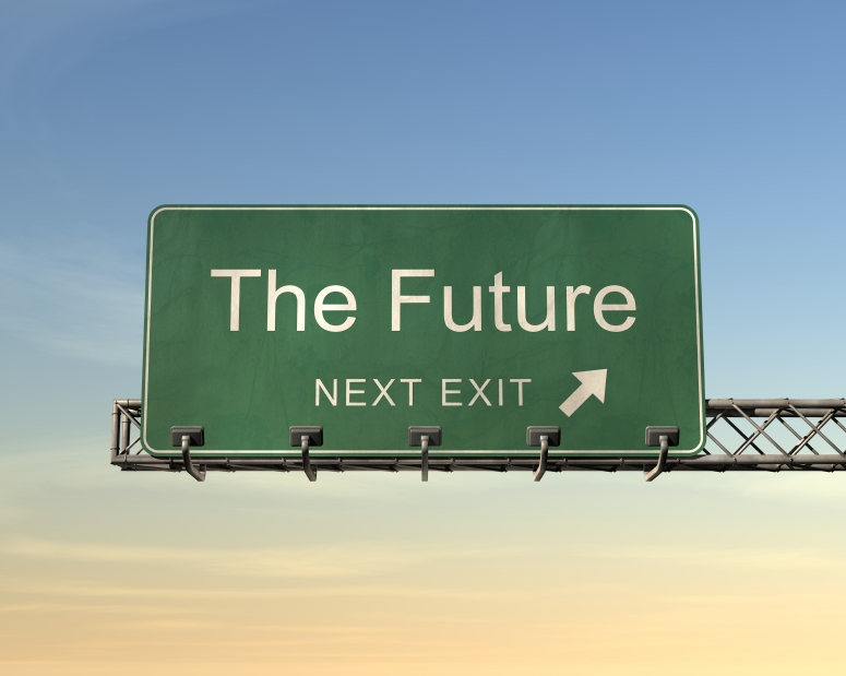 the future exit sign