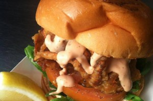 softshell-crab-burger euro trash food cart portland