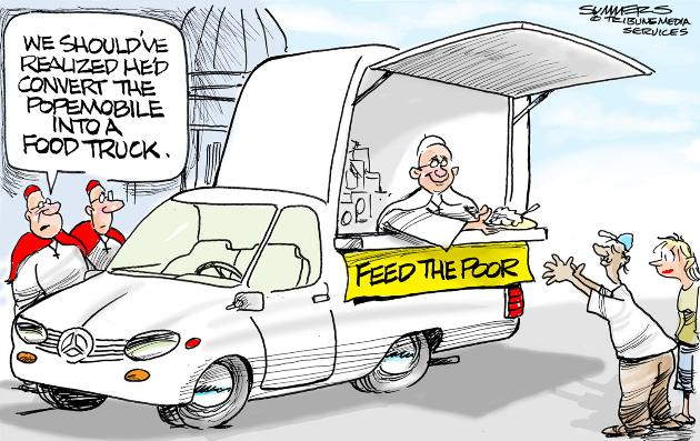 Food Truck Pope Mobile