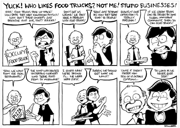 No Food Trucks Cartoon
