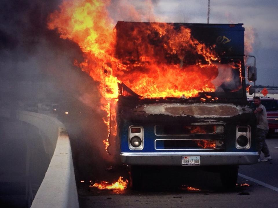 food truck fire houston