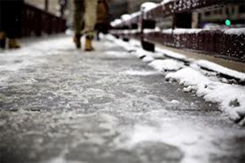 icy sidewalk winter