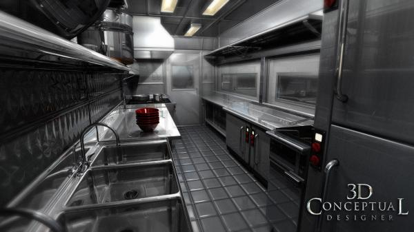 3D Food Truck Kitchen
