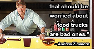 Andrew Zimmern Food Truck Quote