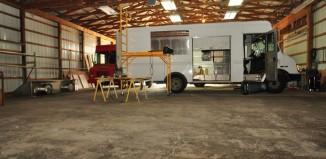 Food truck repair shop