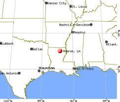 Monroe LA map