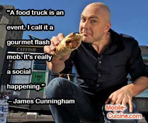 James Cunningham Food Truck Social Quote