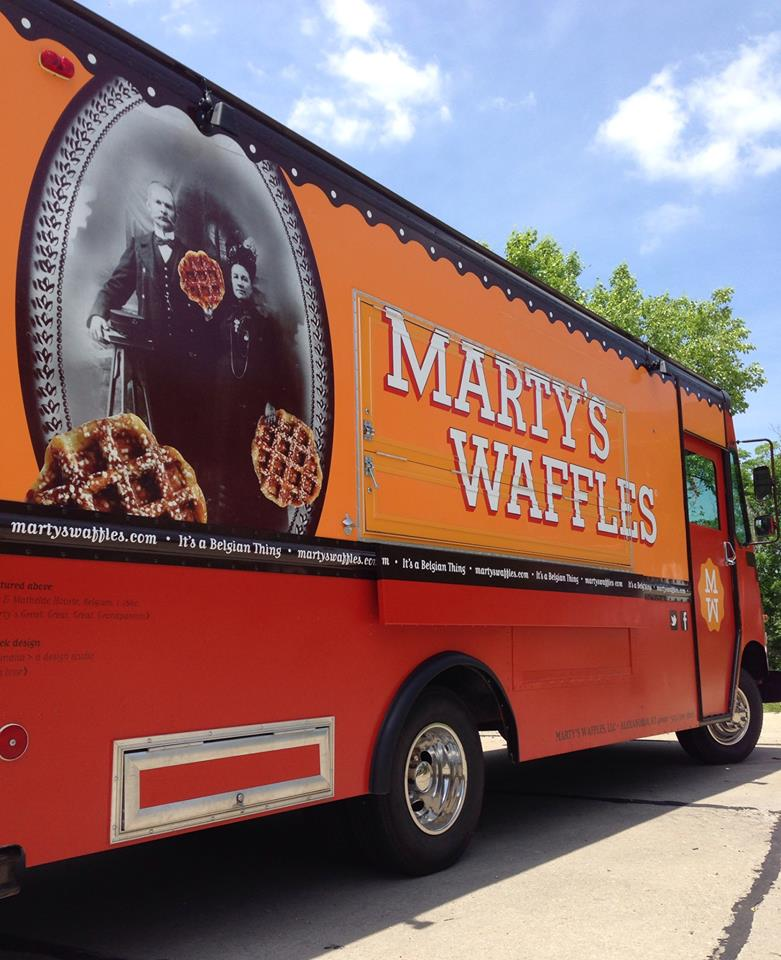 Marty s waffles 2014 best food truck graphic design of for Best food truck designs