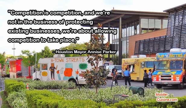 Annise Parker Food Truck Quote