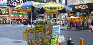 nyc hot dog cart