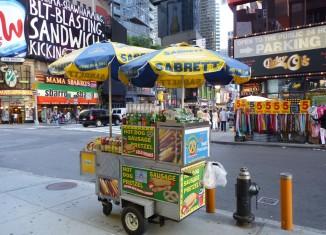 nyc hot dog cart