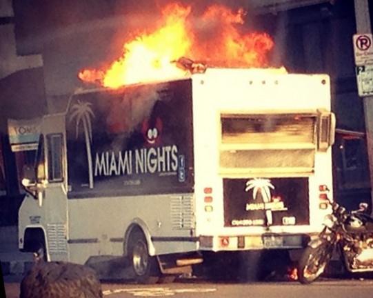 venice food truck fire