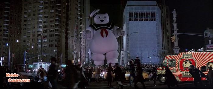 Ghostbusters photobomb