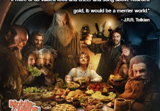 JRR Tolkien Food Happiness Quote