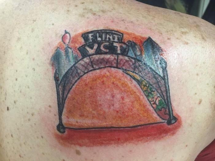vehicle city taco tattoo