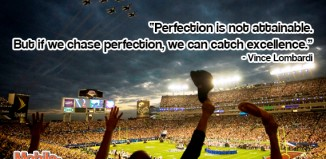 Vince Lombardi Excellence Quote