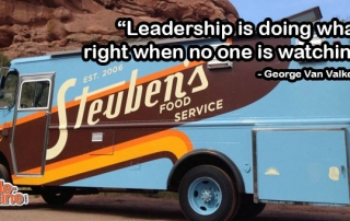 George Van Valkenburg Leadership Quote