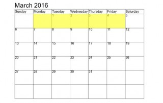 March 1-4 2016 Food Holidays