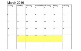 March 28-1 2016 Food Holidays