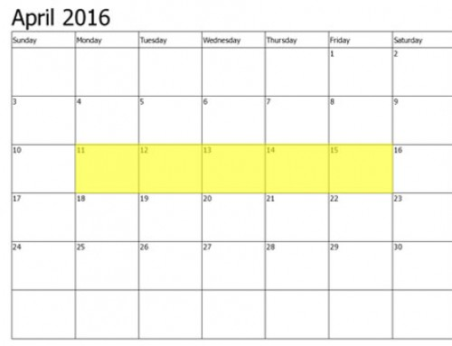 Upcoming Food Holidays | April 11 – 15, 2016