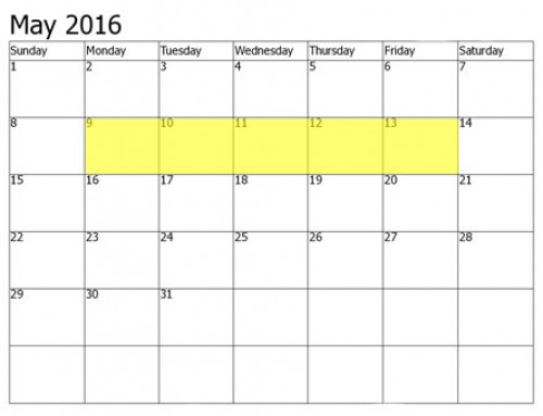 Upcoming Food Holidays | May 9 – 13, 2016