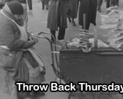 TBT NYC Pretzel Cart 1938
