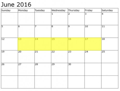 Upcoming Food Holidays | June 13 – 17, 2016