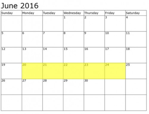 Upcoming Food Holidays | June 20 – 24, 2016