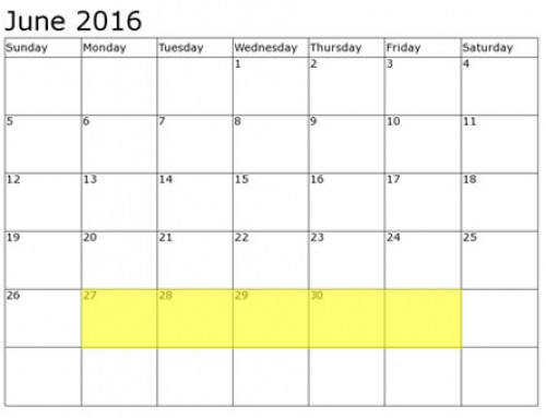 Upcoming Food Holidays | June 27 – July 1, 2016
