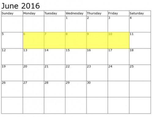 Upcoming Food Holidays | June 6 – 10, 2016