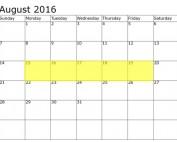 August 15-19 Food Holidays