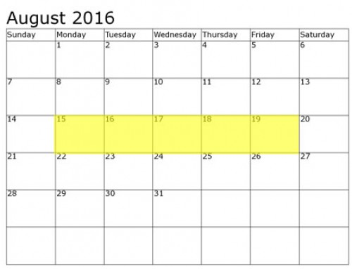 Upcoming Food Holidays | August 15 – 19, 2016