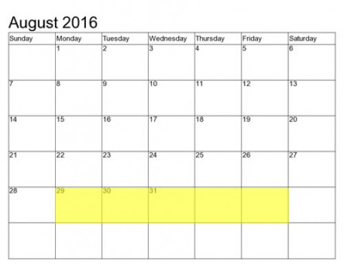 Upcoming Food Holidays | Aug 29 – Sep 2, 2016