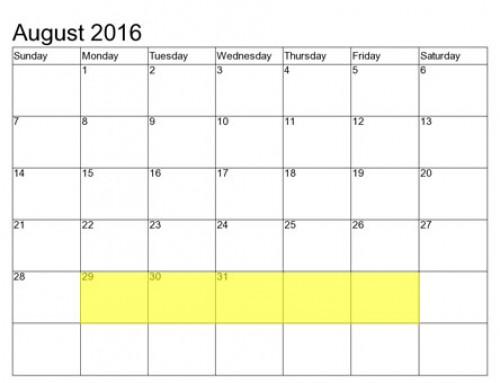 Upcoming Food Holidays | Aug 29 – Sep 2, 2016