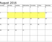 August 8-12 Food Holidays